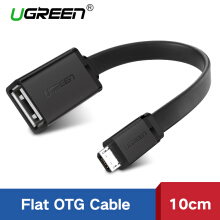 UGREEN Micro USB 2.0 OTG Cable On The Go Adapter Male Micro USB to Female USB for Samsung S7 S6 Edge S4 S3, LG G4, Dji Spark Mavic Remote Controller, Android Windows Smartphone Tablets Black