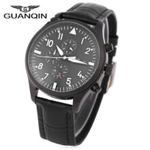 GUANQIN GJ16012 Men Automatic Mechanical Watch Calendar 3ATM Luminous Wristwatch