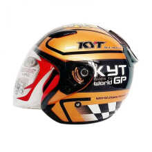 KYT DJ Maru Moto GP - Helm Half Face - Orange