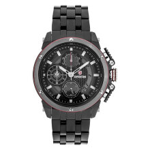 Expedition E 6748 MC BEPBARE Man Chronograph Black Dial Black Stainless Steel Strap [EXF-6748-MCBEPBARE]