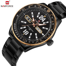 PEKY NAVIFORCE 2018 Sports Watches Original Men Steel Quartz Watch Black