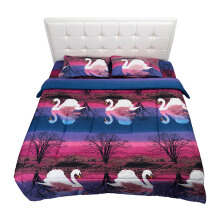 NYENYAK Swan Lake Fitted Sheet - Sprei 160 x 200 x 20 - 2 Bantal 2 Guling