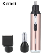 Kemei KM - 6661 3 in 1 Rechargeable Nose Ear Eyebrow Hair Trimmer0.15EU Plug0.15Gold