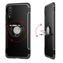 RockWolf Huawei P20 pro case TPU soft shell metal ring magnetic bracket protector