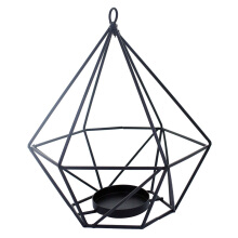 JYSK 17D186 Diamond Candle Holder - Black 14x14x16 Cm Black