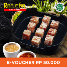 Raa Cha Suki & BBQ - Voucher Value Rp 50.000