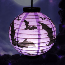 Halloween LED Paper Lantern Pumpkin Spider Bat Lights Hanging Lamp Props Decoration Party Supplies3