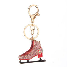 Roller Skates Shape Keychain Novelty Lady Bag Pendant Key Chain Decoration pink