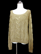 Patchwork sweater sweater top in gold trim