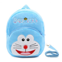 COZIME Cute Cartoon Kids Plush Backpack Toy Mini School Bag with Anti-lost Leash Blue