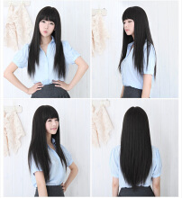 Ladies Party Lovely Wigs Long Straight Hair Cosplay Student Wigs