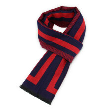 SiYing autumn and winter men's scarf brushed warm simple jacquard scarf