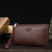 [kingstore]American Fashion High Class Soft PU Leather Men Business Cluth Bag Wallet Dark Brown