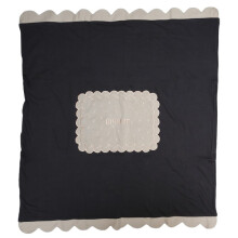 Cribcot Travel Blanket Biscuit Dark Grey Milk Choco