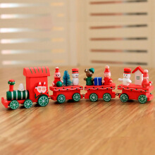 Christmas 2017 Wood Train Christmas Decoration Decor Innovative Gift for Children Diecasts Toy Vehic2
