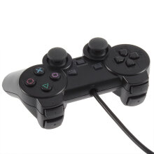Kingstore Replacement Wired Analog Game Controller Gamepad for Sony Playstation 2 Black