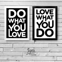 KATAKU Set 2 Poster & Bingkai Motivasi - Do What You Love 4 - Hiasan Dinding