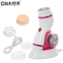 AE-8286B Facial Cleansing Brush Massager Electric Beauty Health Acne Face Cleaning Devices Random