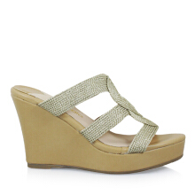 Bellagio Messina-297 Corda Wedges Sandals