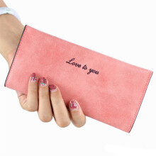 SiYing Korean version of the original matte leather ultra-thin ladies long wallet