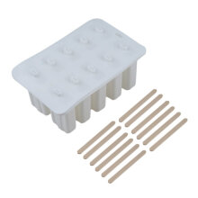 [kingstore] 10-hole Silicone Ice Cream Mould Frozen Maker Tools Silica Gel Ice Cream Mould White