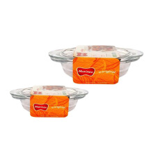 MARINEX Round Casserole Small - Medium Set of 2