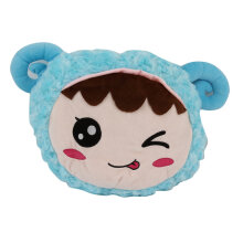 [kingstore] Colorful Glowing Luminous Light Sheep Head Toys Stuffed Plush Cushion Pillow Blue