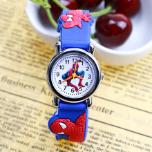 PEKY Spiderman Mode 3D Rubber Strap Kids Watch Fashion Kids Quartz Watch Boy