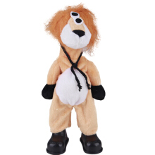 Anamode Standing Anime Lion Plush Sucker Pendant Toys Can Walk Glasses Lion Stuffed Plush Dolls Kids Gifts