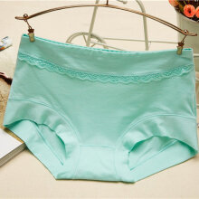 Women Briefs Cool Women Mid-waist Underwear Knickers Female Underpants Green