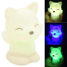 Farfi Fox Shape LED Night Light Changing Colors Decoration Candle Lamp as the pictures