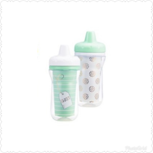 THE FIRST YEARS Super Chill Sippy 9oz Insulate Cups 2Pk - Mom Appeal - Green - White