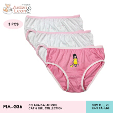Arden & Leon Celana Dalam Anak Perempuan 3 pcs Cat & Girl Collection F1A-G36