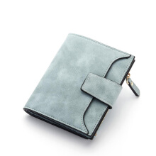 Jantens  Women Short Wallet Purse Coin Pocket Fashion Solid Color Hasp Purse Retro Temperament PU Material