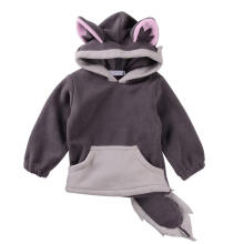 Farfi Baby Girls Boys Winter Fox Pattern Long Sleeve Hoodie Top with Ears Tail