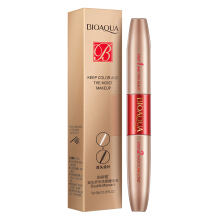 BIOAQUA Double-headed long thick waterproof and not blooming growth lock color mascara Double-headed mascara 5g+5g