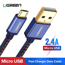 UGREEN Micro USB Cable Denim Braided Fast Charging Cable USB to Micro USB Data Cable