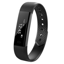 [kingstore] YL015 Smartband Heart Rate Monitor Fitness Tracker Pedometer Waterproof Watch Black