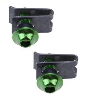 JMS - 1 Pair (2 pcs) Fairing Bolts Clip Screw Alumunium Spring Nuts / Baut dan Penjepit Fairing - Green