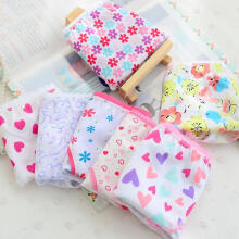 Farfi 6Pcs Fashion Kids Girls Flower Heart Cotton Briefs Soft Panties Lace Underwear