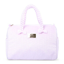 Naraya Large Handbag Pleated Satin NPL-91E No.231 Pink