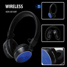 Vinmori metal handfree MDR-XB750BT Supper Bass with TFcard wireless bluetooth V4.2 EDR headphone
