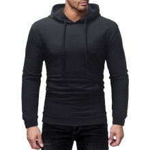 Male Sports Hooded Pullover Coat Long Sleeve Small loop Cardigan XXL