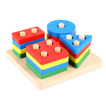[COZIME] Wooden Puzzles Teaching Geometric Shape Cognitive Matching Puzzles Toys Other1
