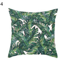 Farfi Leaf Flower Tree Polyester Decorative Pillow Case Square Waist Cushion Cover