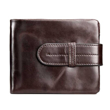 Zanzea 0051Men Genuine Leather Short Wallet Business Horizontal Wallets Coffee