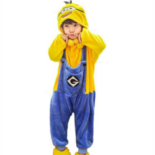 SESIBI Size 100~140 Kids Cartoon Clothes Parent-Child Homewear Siamese Pajamas Suit -Minion