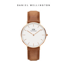 Daniel Wellington Classic Leather Watch Durham Eggshell White 36mm