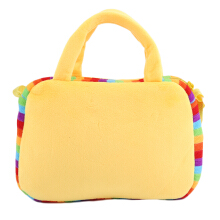 [LESHP]Square 10 Face Emotion Kids Handbag Shoulder Bag Kindergarten Crossbody Yellow