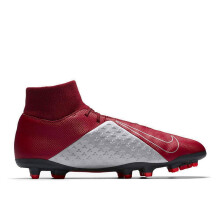 NIKE Phantom Vsn Club Df Fg/Mg - Team Red/Black-Metallic Silver